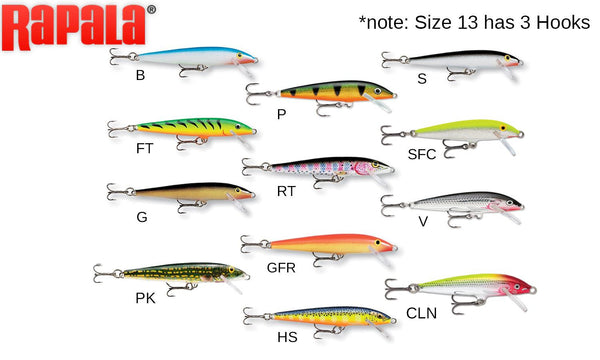 "Rapala Original Floater - 5-1/4"" 1/4 oz., 4' - 6' Depth, #F13"