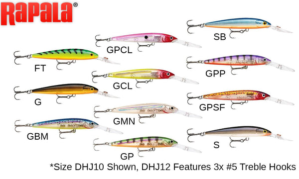 "Rapala Down Deep Husky Jerk - DHJ12 - 4-3/4"", 1/2 oz, 8' to 19' Depth"