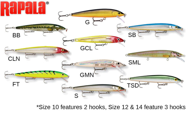 "Rapala Husky Jerk - HJ10 - 4"", 3/8 oz, 4'-8' Depth"