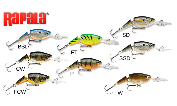 "Rapala Jointed Shad Rap - JSR05 - 2"", 1/4 oz, 6'-13' Depth"