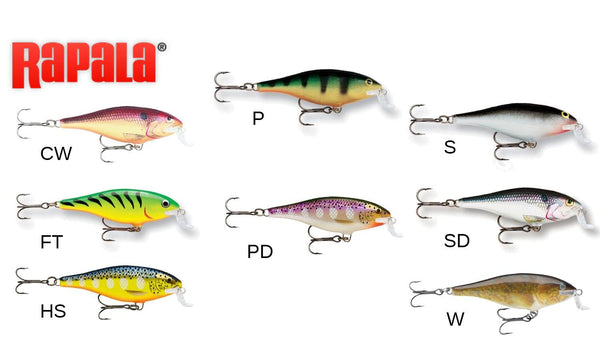 "Rapala Shallow Shad Rap - SSR07 - 2-3/4"", 3/8 oz, 6'-8' Depth"