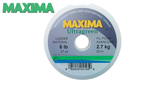 Maxima Leader Ultragreen Spools, 4 to 15 lbs, 25 Meters #MLG
