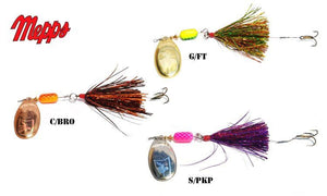 Mepps Trolling Rig, Tinsel Dressed Treble with Trailer Hook, 3/16 oz. #TR3TN