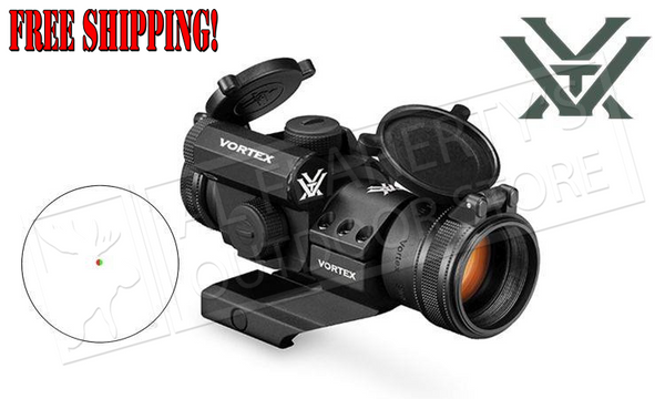 Vortex Strikefire II Red Dot, Red & Green 4 MOA Reticle & Cantilever Mount #SF-RG-501