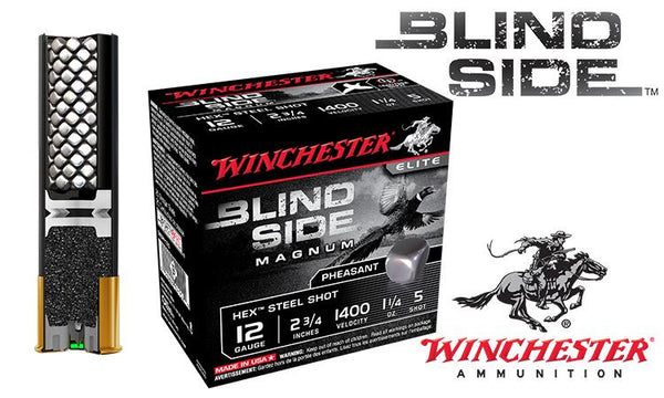 "<b>(Store Pickup Only)</b><br> 12 Gauge - Winchester Blind Side Shells, 2-3/4"" #5 Steel Shot, Boxes of 25 #SBSPH12"