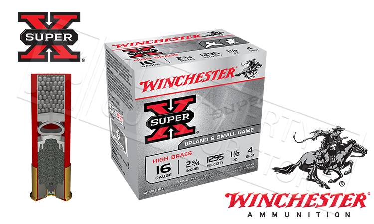 16 Gauge Winchester Super X Upland High Brass Shotgun Shells