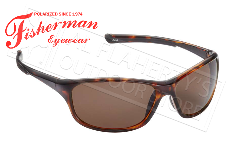 Fisherman Eyewear Cruiser Polarized Sunglasses, Tortoise with Copper Lens #50473203