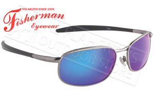 Fisherman Eyewear Blacktip Polarized Sunglasses, Gunmetal with Blue Mirror Lens #96100708