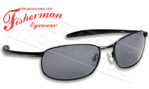 Fisherman Eyewear Blacktip Polarized Sunglasses, Metal with Grey Lens #50080001