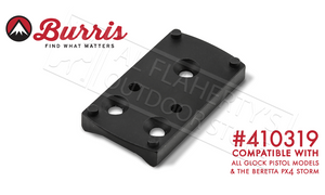 Burris FastFire Mount, Compatible with All Glocks and Beretta PX4 Storm Pistols #410319