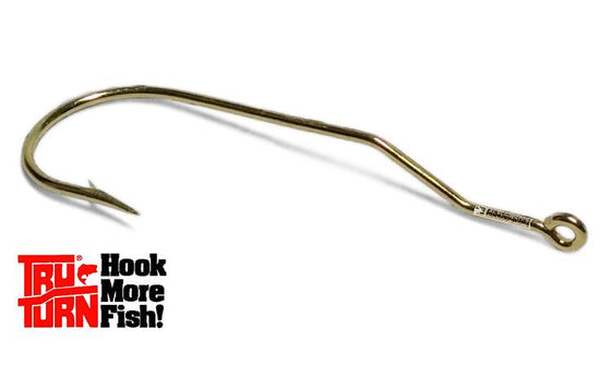 Tru-Turn Panfish Aberdeen Hook, Gold Finish, Sizes 8 to 1 #888ZS