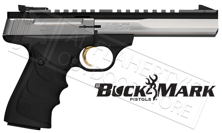 "<b>Shot Show Special!</b> <br>Browning Buck Mark Contour, Stainless 5-1/2"" Barrel With Full Rail, .22LR #051507490"