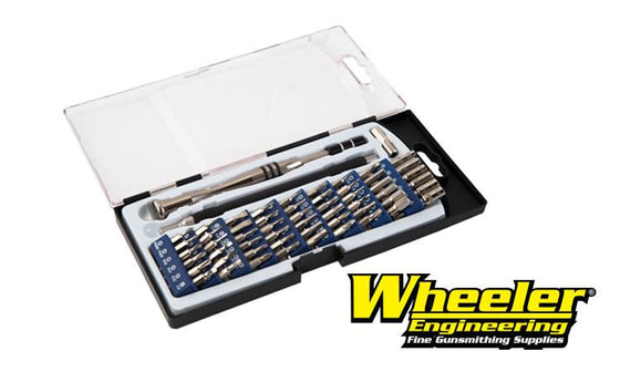Wheeler Precision Micro Screwdriver Set, 58 Pieces with Flexible Extension Shaft #564018