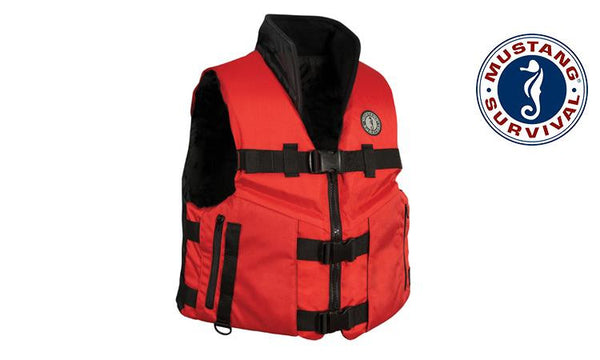 Mustang ACCEL100 Fishing Vest, Black & Red Sizes M-XXL #MV4621