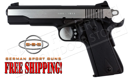 GSG 1911 Stainless 2-Tone Rimfire Pistol, Made in Germany #HO7GSG911SS