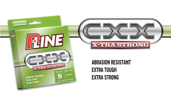 P-Line CXX X-Tra Strong Moss Green Line, 300 Yard Spools, 6 to 15 lbs. #CXXFG
