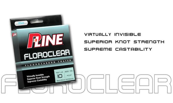 P-Line CX Fluorocarbon Floroclear Line, 300 Yard Spools, 6 to 12 lbs. #FCCF