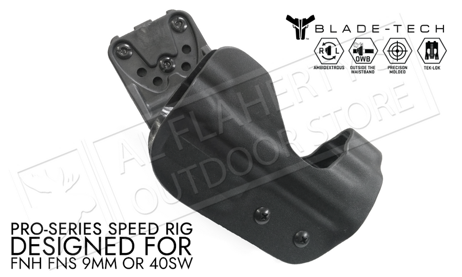 Blade-Tech Original Pro-Series Speed Rig Holster for FNH FNS 9/40 Caliber Pistols, Right-Handed D/OS with TekLok Mount #HOLX00001379598460