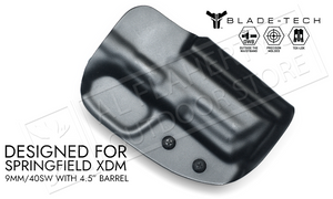 "Blade-Tech Original Holster for Springfield XMD 9mm with 4.5"" Barrels, Right-Handed with TekLok Mount #HOLX000884502591"