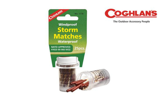 Coghlan's Windproof & Waterproof Storm Matches, Pack of 25, NATO Approved #1170
