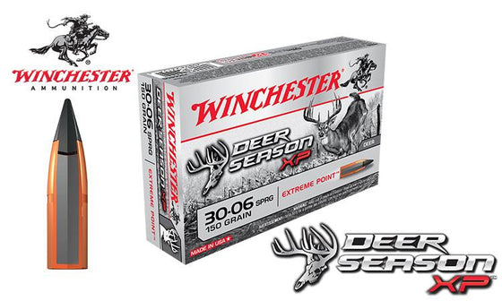 Winchester Deer Season XP 30-06 Springfield, 150 Grain Box of 20 #X3006DS