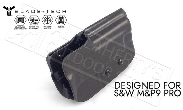 "Blade-Tech Holster OWB - S&W M&P9 Pro 5"", D/OS Sting Ray Loop #HOLX000871660574"