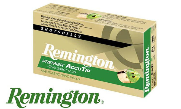 "<B>(Store Pickup Only)</b><br> 20 Gauge - Remington Premier AccuTip Bonded Sabot Slugs, 2-3/4"", Box of 5 #PRA20"