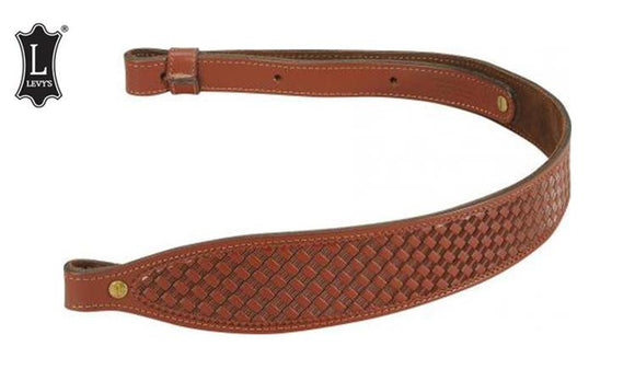 "Levy's Leathers Leather Cobra Rifle Sling, 29"" - 38"" Black #SN20T02-Walnut"