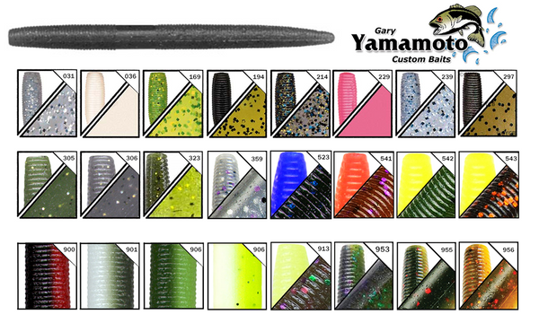 Gary Yamamoto Yamasenko 5-Inch Worms, 24 Different Patterns #9-10