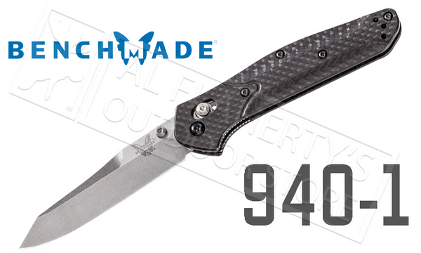 Benchmade 940-1 by Osborne Design, Plain Edge with Satin Finish and Carbon Fiber Handle