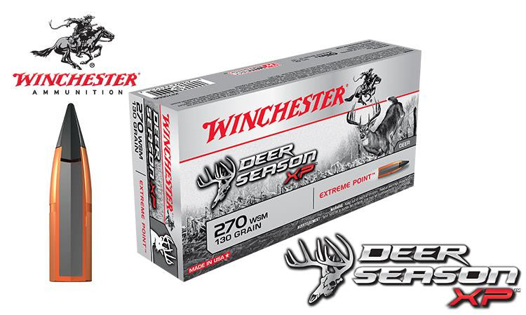 Winchester Deer Season XP 270 WSM, 130 Grain Box of 20 #X2700SDS