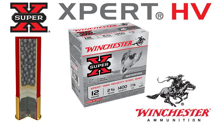 "12 Gauge - Winchester Super-X Xpert HV Shells, 2-3/4"" #2 to #4 Steel Shot, Boxes of 25 #WEX12H"