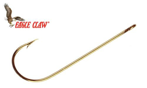 Eagle Claw Aberdeen Hooks, Ringed Eye Extra-Light Wire, Pack of 50, Sizes 8 & 6 #214EL