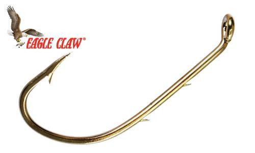 Eagle Claw Baitholder Bronze Hooks, Pack of 10, Sizes 12 to 1 #L181G