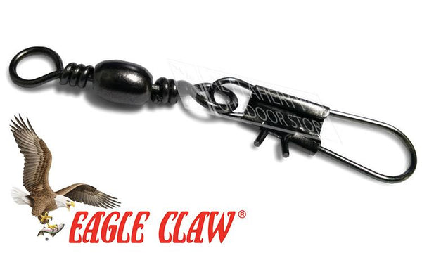 Eagle Claw Barrel Swivel with Interlock Snap, Sizes 14 to 1 #01032