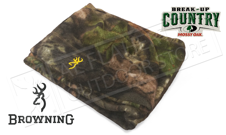 Browning Juneau Fleece Beanie and Neck Gator Combo, Mossy Oak Break-Up Country Camo #308569281