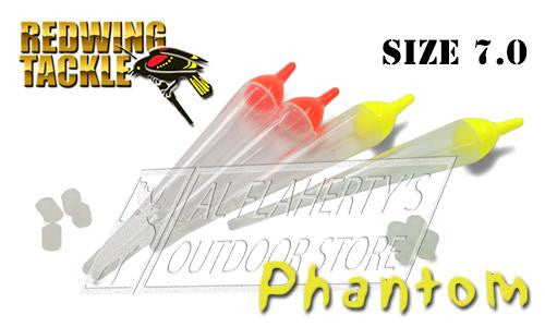 Redwing Tackle Blackbird Phantom Floats, Clear, Size 7.0, Multiple Colours, Packs of 2 #PH7