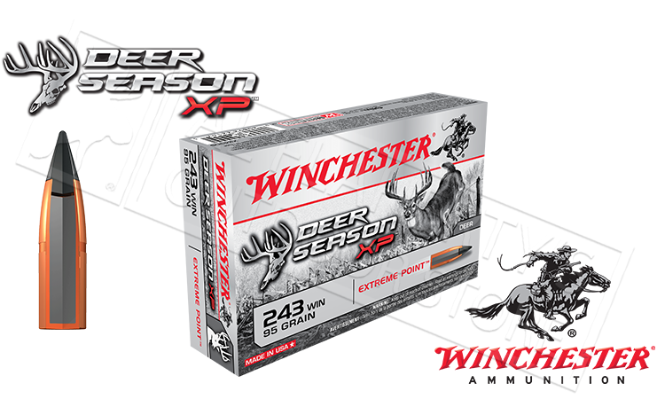 Winchester 243 WIN Deer Season, Polymer Tipped 95 Grain Box of 20 #X243DS