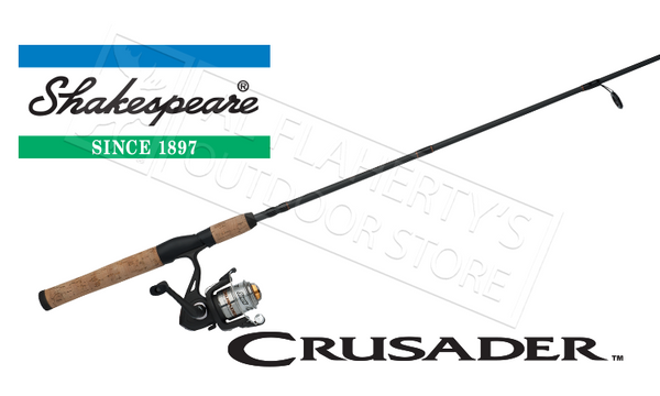 "Shakespeare Crusader Spinning Combo, 6'6"" Rod #CRUS23066CBO"