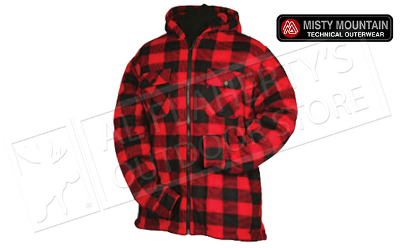 Misty Mountain Sherpa Fleece Jacket with Insulated Hood & Zipper S-2XL #5701