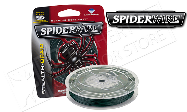 Spiderwire Stealth Braid Fishing Line, Moss Green, <b>200 Yard Spools</b> #SCSxxG-200
