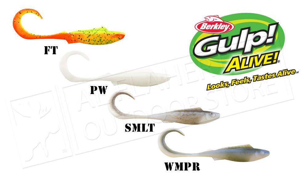 "Berkley Gulp! Alive! Nemesis Minnows, 4"" Half-Pint Bucket #GAFHPNM4"
