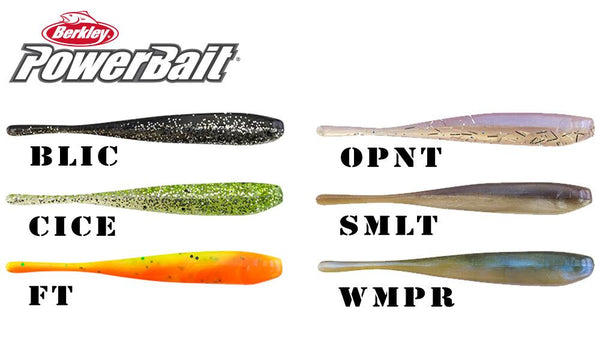 Berkley PowerBait® Pro Twitchtail Minnow, Pack of 15 #PBBPSTW3