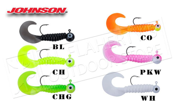"Johnson Swimming Grubs, 3"" 1/8 oz., Packs of 5 #SG3C1/8"