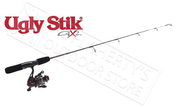 "Ugly Stik GX2 Ice Fishing Combo, 26"" Light or 28"" Medium #USGXICExxCBO"