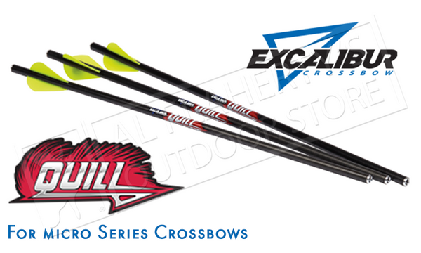 "Excalibur Quill Arrows for Micro Series Crossbows, 16.5"" Pack of 6 #22QV166"