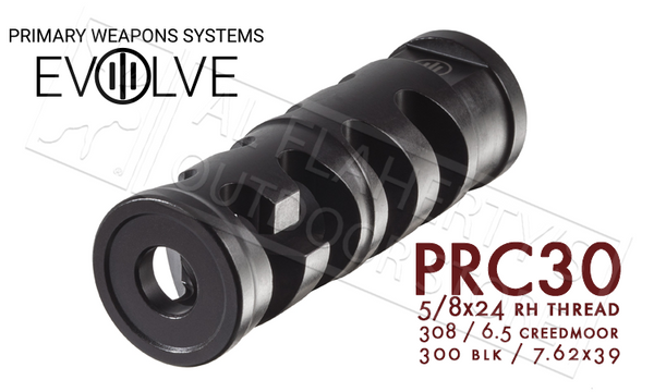 PWS PRC Precision Rifle Compensator for .30 Caliber, 5/8x24 RH Thread #3PRC58C1