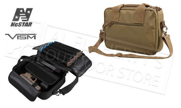NcStar VISM Double Pistol Range Bag, Black or Tan #CPDX2971