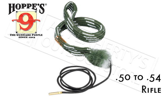 Hoppe's #24020 Boresnake, Rifle - .50 to .54 Caliber