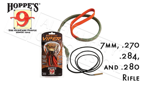 Hoppe's #24014V Boresnake Viper, Rifle - 7mm, .270, .284 and .280 Caliber